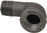 "1-1/2"" 150# Black Malleable 90 Street Elbow"