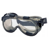 CREWS GOGGLE GRAY FRAME CLEAR ANTI-FOG LENS (INDIRECT) 2410