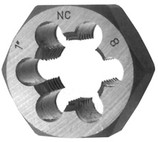 DRILLCO 1/4-20 HEX DIE COURSE THREAD HSS