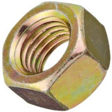 9/16-12 FINISH HEX NUT - GR 8 YELLOW ZINC