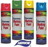 Aervoe Survey Marking Paint - 20 oz Can  Aervoe's Survey Marking Paint is a superior upside down marking paint that is designed for survey marking. It provides the best quality paint in terms of color visibility and retention, durability, and a lasting mark of up to six months. Adheres to almost any surface, including wood, concrete, asphalt, brick, and gravel. Use for survey marking, landscape, utility/locator, construction and proposed excavation.