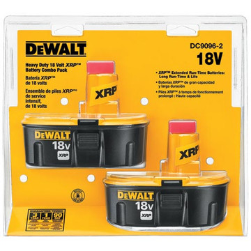 Keep your DEWALT 18-volt cordless tools powered with the DC9096 XRP extended run time batteries. DEWALT uses top-quality NiCd cells, offering a consistent and adaptable performance. The extended run time batteries deliver 40 percent more run time with new cobalt technology.