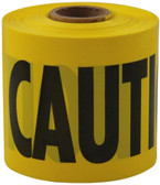 "Empire Yellow ""Caution"" Barricade Tape (English & Spanish) / 3"" x 200 FT  - Used for setting off areas under construction  - Brightly colored durable polyethylene with bold, black message in 2"" letters  - 200' rolls - Commercial Grade  - Plastic remains pliant in cold weather  - Text in English and Spanish"
