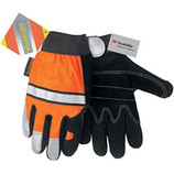 Memphis Glove Luminator Leather w/ Hi-Vis Orange SIZES L-XL MG911DPL