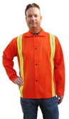 Tillman Orange Jacket with Yellow Flame Retardant Stripes Size LARGE #TIL6230DRTL CLEARANCE SALE
