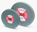 "FLEXOVIT 6"" X 3/4 X 1"" GREEN SILICONE CARBIDE BENCH GRINDING WHEEL GC120 FINE U4670"