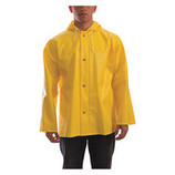 Raincoat w/Hood, Yellow, PVC - SIZE LARGE - CLEARANCE SALE