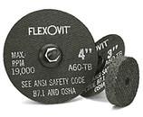 """FLEXOVIT 3"""" X 1/2"""" X 3/8""""  GRIT A036Q FAST GRIND SMALL DIAMETER ABRASIVE WHEEL 10/BX F0379"""