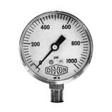 "Dixon Valve GL115 ABS Standard Dry Gauge, 1/4"" Lower Mount, 2"" Face, 0-30 PSI, 5 Figure Interval, 0.5 Minor Gradient - CLEARANCE SALE"
