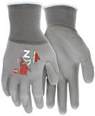 13 Gauge Gray Nylon Shell, Gray PU Palm & Fingers - SIZE X-SMALL - 9666XS - CLEARANCE SALE