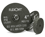 FLEXOVIT 3 x 1/16 x 3/8 DIE GRINDING DISC/WHEEL A46T 50/box F0320