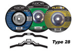 "FLEXOVIT 9"" X 1/4"" X 5/8-11 DEPRESSED CENTER TYPE 28  A30S FAST GRINDING DISC/WHEEL A8360H 10/BOX"