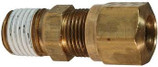 BRASS MALE CONNECTOR 3/8 TUBE X 1/4 PIPE AIR BREAK FITTING