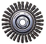 """FLEXOVIT 4"""" X 1/4"""" X 5/8-11 STRINGER BEAD WIRE WHEEL BRUSH - .020 CARBON C1130"""