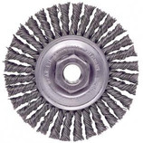 "WEILER 3/8""-24 x 4"" KNOT WIRE WHEEL BRUSH 13128"