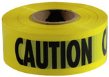 "Empire Yellow ""Caution"" Barricade Tape - 3"" x 1000 FT  - Made of durable plastic, made in USA  - Plastic remains pliant in cold weather  - Bright yellow color alerts to danger or off-limits  - Bold black ink caution stands out from yellow background making message highly visible  - Designed for general purpose roping off of construction areas, crime scenes and road work"