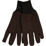 MEMPHIS BROWN JERSEY GLOVES / KNIT WRIST - 7100