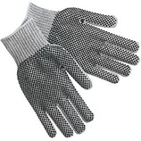 MEMPHIS COTTON/POLYESTER BLEND TWO SIDED PVC DOTS GREY 9662LM