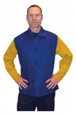 "TILLMAN 30"" 2-XLARGE FIRE RETARDANT ROYAL BLUE WELDING JACKET WITH LEATHER SLEEVES 9230-2X"