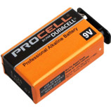 "Duracell Procell ""9-Volt"" Alkaline Battery  Thanks to high quality manufacturing and materials, including Super Conductive Graphite technology in the cathode, Procell batteries provide long-lasting power and outstanding performance. Each battery is tested for voltage and leakage before release to ensure dependable power – even after up to seven years of storage. And they can operate in temperature extremes from -4°F to 130°F. With unparalleled performance that matches the Duracell Coppertop batteries, but with lower costs because of bulk packaging and lower advertising costs, the Duracell Procell batteries are an easy choice. Made in the USA!"