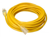 COLEMAN CABLE 02587-88-02 - 25' 12/3 SJTW YELLOW EXTENSION CORD LIGHTED END