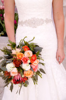 Peach and Coral Bridal Bouquet