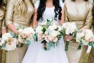 Blush wedding party