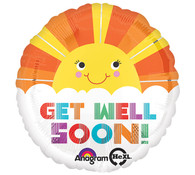 Get Well Soon sunhine balloon