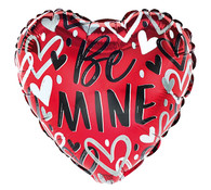 "Be Mine 4"" stick balloon"