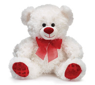 white bear with red hearts