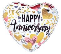 Heart Happy Anniversary Balloon