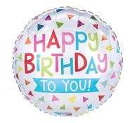 Multi Triangle Happy Birthday Balloon
