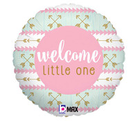 Welcome Little One Pink Balloon