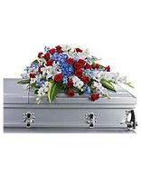 Distinguished Service Casket Spray by Teleflora