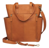 Oversized Leather RFID Travel Tote