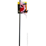 Cat Toy Interactive Wand With Falamingo and Feathers