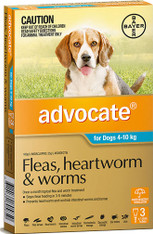 Advocate 3 Month Supply for Dogs 4-10kg