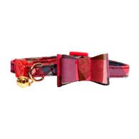 PinkTartan Bow-Tie Cat Collar