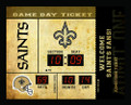 Team Sports America New Orleans Saints Bluetooth Scoreboard Wall Clock