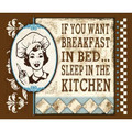 Crystal A Breakfast in Bed 12 x 15 Tin Sign