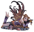 StealStreet Purple Fairy with Gold Butterfly Collectible Figurine Decor