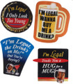 Legally 21 Stickers Novelty Item