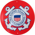 Tags America United States Coast Guard Emblem Metal Sign - USCG Logo, 12 inches