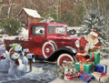 White Mountain Puzzles Santa & Truck - 1000 Piece Jigsaw Puzzle