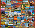White Mountain Puzzles Best Places in America - 1000Piece Jigsaw Puzzle