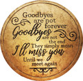Spoontiques 13227 Goodbyes Stepping Stone, Gold