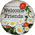 Spoontiques 13790 Welcome Friends Stepping Stone, Multicolored