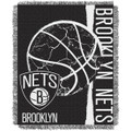 The Northwest Company Brooklyn Nets Double Play Woven Jacquard Throw Blanket