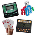 Traveling Portable Classic Blackjack 21 Cards & 5 in 1 Poker Electronic Handheld Game