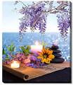 "Bright Baum Ocean Scenery LED Light Up Canvas Wall Art 16"" x 24""- #514"